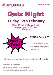 Quiz Night A4